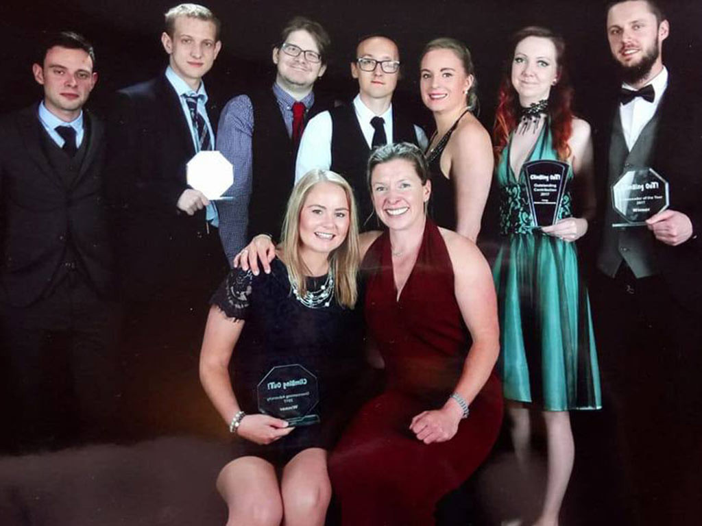The Charity Ball raises over £2,000 for Climbing Out
